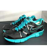 Nike Reax Rocket 2 Running Shoes 454175 004 Black Aqua Womens Size 8.5 - $39.11