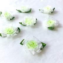 Ombre Cabbage Roses,Shabby Flowers,Headband Making,Sewing Decor,Craft Su... - $7.50