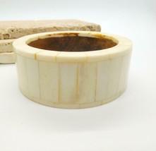 Vintage Bovine Bone Mosaic Inlay Wood Boho Tribal Bangle Bracelet C41 - $21.99