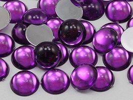 KraftGenius Allstarco 5mm Purple Amethyst Lite .NAT02L Flat Back Acrylic Round C - $4.45
