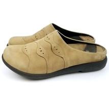 Dansko Pro Women Slides Tan Suede Leather Sandals Shoes Tan Size 37 / 6.... - $26.75