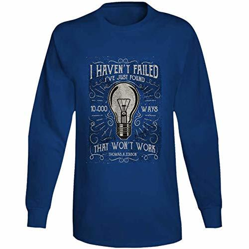 Tremendous Designs I Havent Failed Long Sleeve T Shirt L Royal Blue