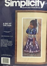 """Simplicity Countless Cross Stitch Kit """"A Day at the Fair"""" - $19.75"""