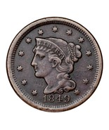 1849 Braided Hair Large Cent 1C Penny (Very Fine, VF Condition) - ₹4,270.47 INR