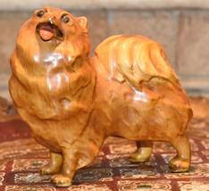 Antique 1950s Mortens Studio Pomeranian Spitz Dog Original Tag Porcelain... - $49.99
