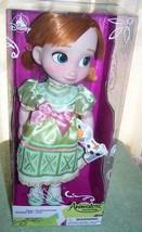 "Disney Animators' Collection Frozen ANNA Doll 16""H New - $34.16"