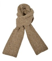 Ferruccio Vecchi Donegal Knit Scarf Beige One Size Made In Italy - $39.59