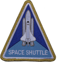 "NASA Space Shuttle Morale Triangle Patch with Hook & Loop Back 4"" x 4-3/4"" - $6.69"