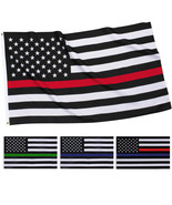 Thin Line American US Flag Support Patriotic Memorial Red Blue Green - $8.99+