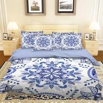 3D Blue Flowers 32 Bed Pillowcases Quilt Duvet Single Queen King US Lemon - $102.84+