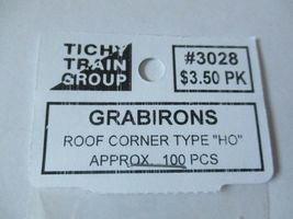Tichy #293-3028 Grabirons  Roof Corner Type Approx 100 Pieces HO Scale image 3