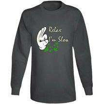 Relax I'm  Slow 420 Canna Long Sleeve T Shirt image 3