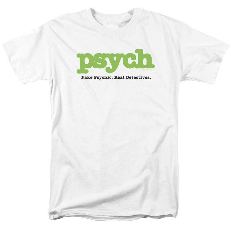 Psych t-shirt Fake Psychic Real Detective comedy TV series graphic tee NBC589