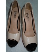 Candies Pink Black & Beige High Heeled Dress Shoes Size 9- 9½  - $14.99