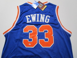PATRICK EWING / NBA HALL OF FAME / AUTOGRAPHED N.Y KNICKS THROWBACK JERSEY / COA image 1
