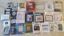 Vintage Cross Stitch Kit Jiffy Stichery, Sunset Needlepoint, Needle Pointers - $1.99+