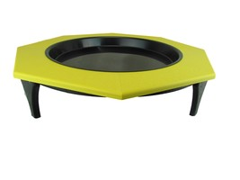 JCs Wildlife Ground Garden Yellow Poly Lumber  Low Profile Bird Bath 16 ... - $57.95