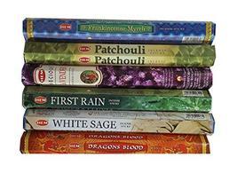 6 Box Hem Incense Sticks Mix Assorted Fragrance Agarbatti Lot - $13.99