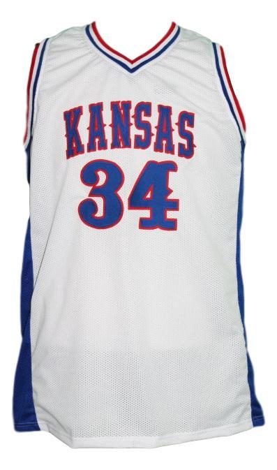 Paul pierce custom college kansas basketball jersey white   1