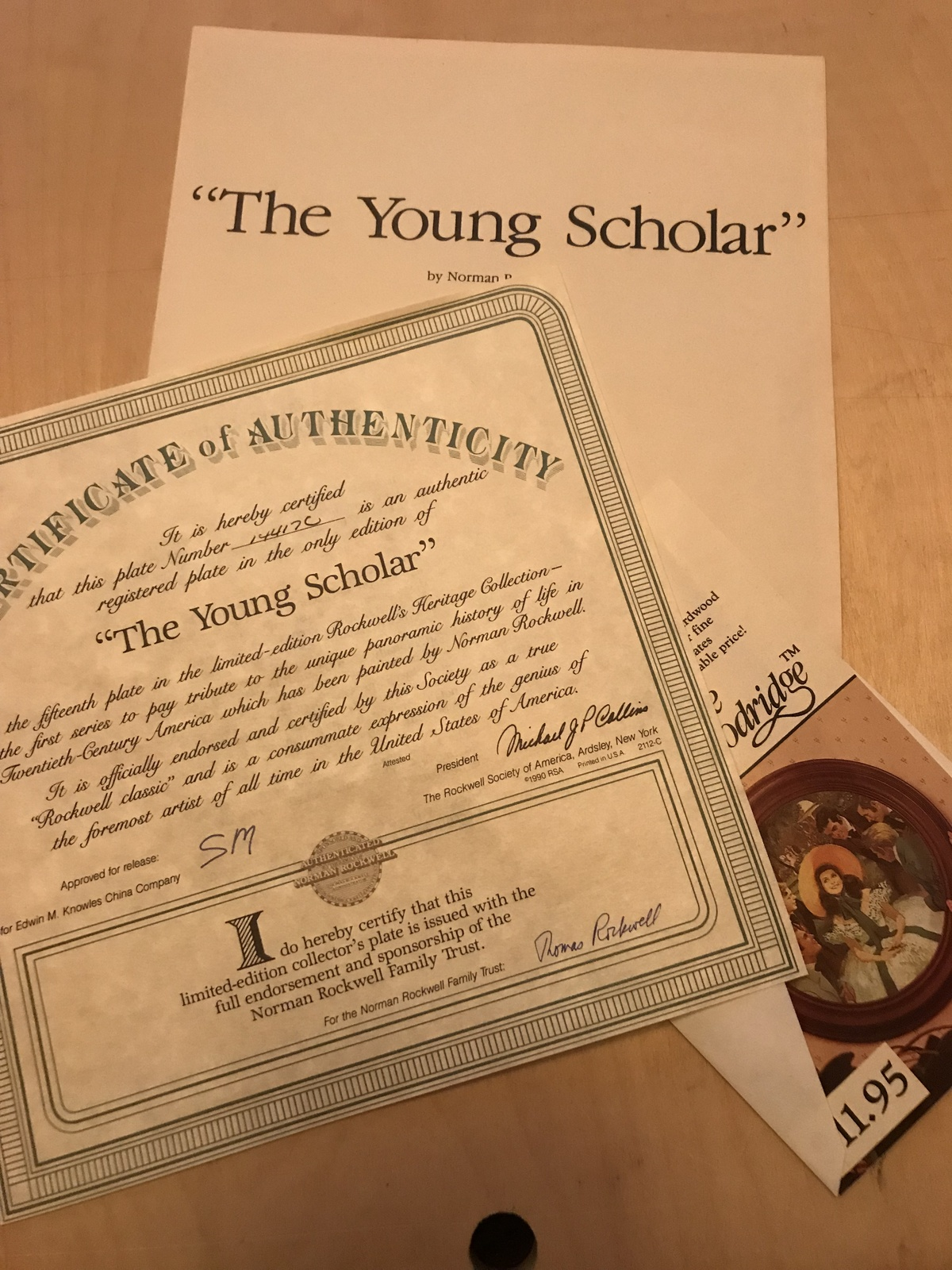 Knowles - The Young Scholar - Ltd Ed 1990 - 14417C