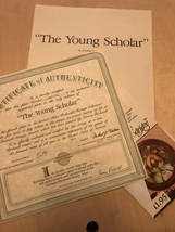 Knowles - The Young Scholar - Ltd Ed 1990 - 14417C - $15.95