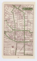 1951 ORIGINAL VINTAGE MAP OF ST. PAUL MINNESOTA DOWNTOWN BUSINESS CENTER - $11.88