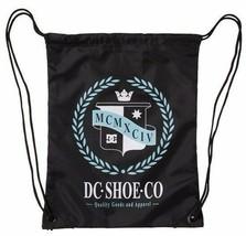 DC Shoes Co Laurel Crest Simpski Black/Pool Cinch Gym Bag backpack image 1