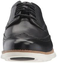 Neuf Homme Cole Haan Original Grand Shortwing Noir Robe Ivoire Chaussures 10 image 3