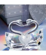 Choice Crystal Collection kissing swans (Set of 6) - $16.78