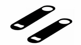 Stainless steel Black Colored colouRed Colored Flat Bottle opener Set of... - $33.94