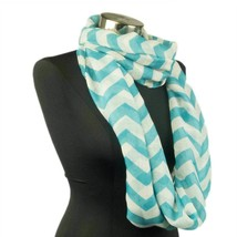 10pc Teal White Chevron Scarf Wrap MOTHERS DAY GIFT Infinity Accesories ... - €8,79 EUR