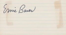 Ernie Banks (d. 2015) Signed Autographed Vintage 3x5 Index Card - $24.99