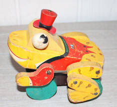 Vintage Fisher Price Buddy Bullfrog Pull Toy - $20.90