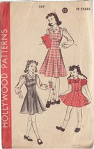 HOLLYWOOD VINTAGE PATTERN 557 CHILD'S PINAFORE, JUMPER, BLOUSE SIZE 10 Y... - $9.10