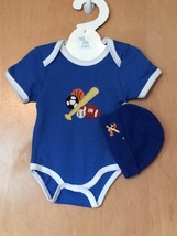 Sports Onesie & Hat Set 0-6 Months - $15.00