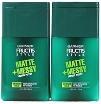 2 Count Garnier Fructis Style 4.2 Oz Matte & Messy Medium Hold Liquid Pu... - $15.99