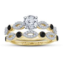 Yellow Gold Plated 925 Sterling Silver Diamond Women's Bridal Wedding Ri... - $86.54
