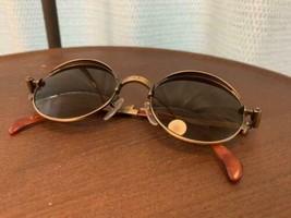 Jean Paul Gaultier Vintage Sunglasses Men's Gold Steampunk Rare Used - $544.49