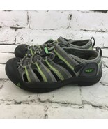 Keen Youth Boys Sz 4 Shoes Green Gray Waterproof Outdoor Hiking Sandals  - $24.74