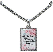Only the Best Moms Get Promoted to Mimi Silver Chain Necklace Jewelry Gift Mom - $13.80