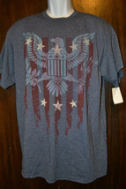 DELTA PRO WEIGHT ADULTS PATROTIC EAGLE FLAG T-SHIRT Size S OR L NWT - $7.99