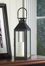BLACK MANHATTAN CANDLE LANTERN - $22.77