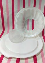 FUN Vintage Tupperware Jel-N-Serve Mold With White Tray and Heart Design Top image 6