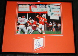 Vinny Testaverde Signed Framed 11x14 Photo Display JSA Miami Bucs - $42.18