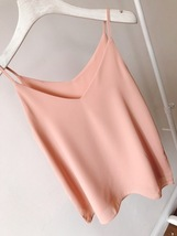 Summer Sleeveless Tank Top Lady Pink Chiffon Tops Wedding Bridesmaid Top Blouses image 6