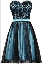 Vintage Black Lace Short Homecoming Dress Sweet Bridesmaid Dresses A Line 2019 - $75.88