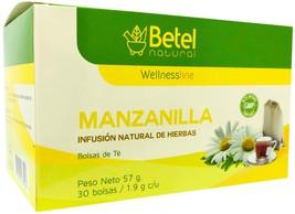 Premium Chamomile Tea - Te de Manzanilla by Betel Natural - 30 Tea Bags - $9.95