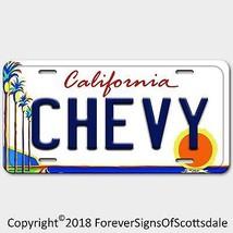 Chevrolet California Aluminum Vanity License Plate White - $12.82