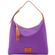 Dooney & Bourke Patterson Violet Leather Large ... - $499.99