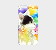 Cell Phone Case for Iphone Samsung Cat 605 Tuxedo art painting L.Dumas - $28.99